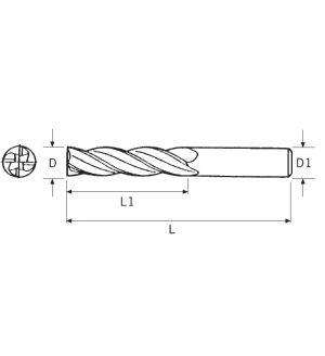 FRESE IN METALLO DURO INTEGRALE RIV. TIAIN - Z4 (2164/L)