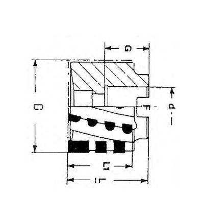 FRESA ELICOIDALE A MANICOTTO (F/400C)