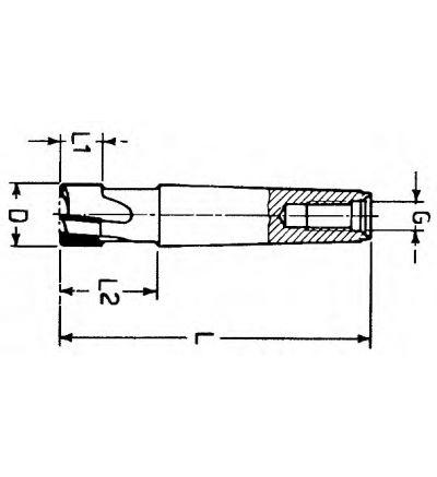 FRESA ELICOIDALE A SGROSSARE CODOLO CONICO (F/407B)