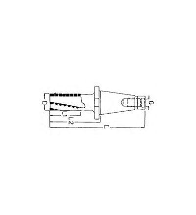 FRESA ELICOIDALE A SGROSSARE CONO ISO DIN 2080 (F/407C)