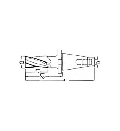FRESA ELICOIDALE A FINIRE CONO ISO DIN 2080 (F/407C-E 25°)