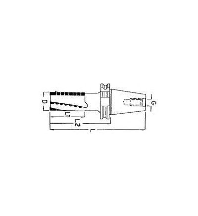 FRESA ELICOIDALE A SGROSSARE CONO ISO DIN 69871 - BT (F/407D)