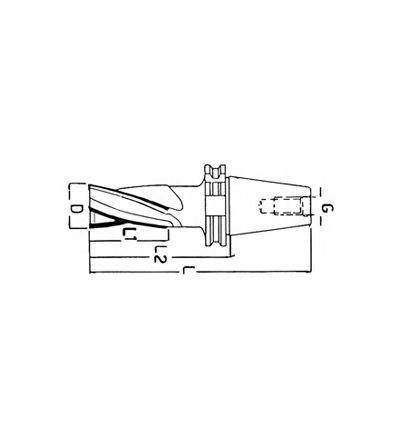 FRESA ELICOIDALE A FINIRE CONO ISO DIN 69871 - BT (F/407D-E 25°)